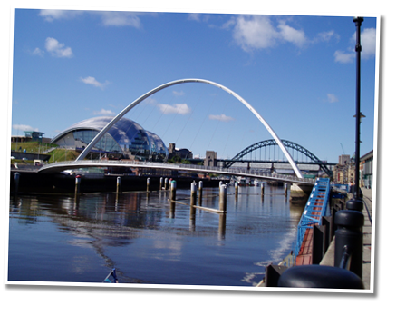 Bridges over the River Tyne in Newcastle